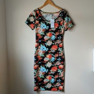 BNWT Short Sleeve Floral Midi Dress